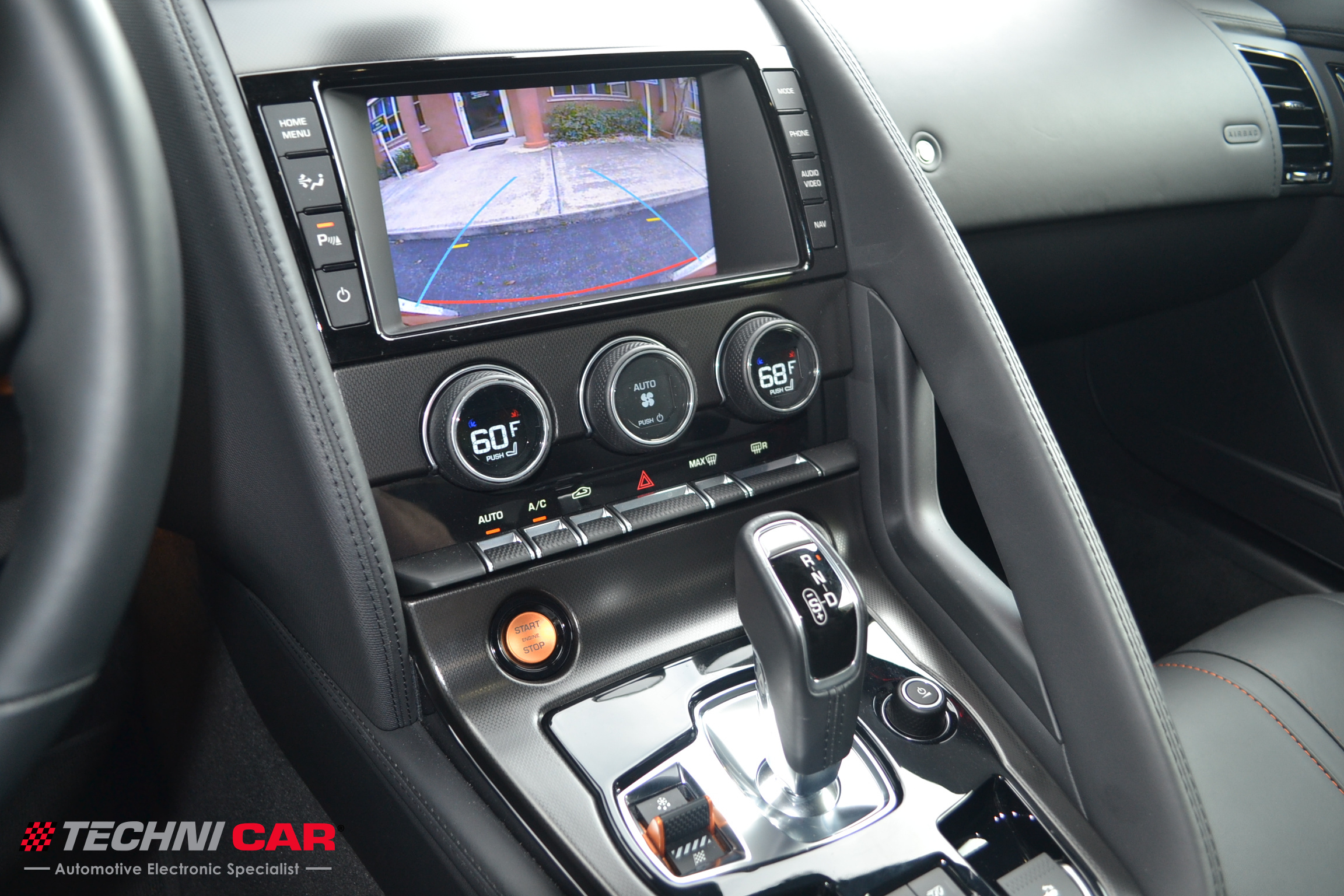 Jaguar F-Type rearview camera