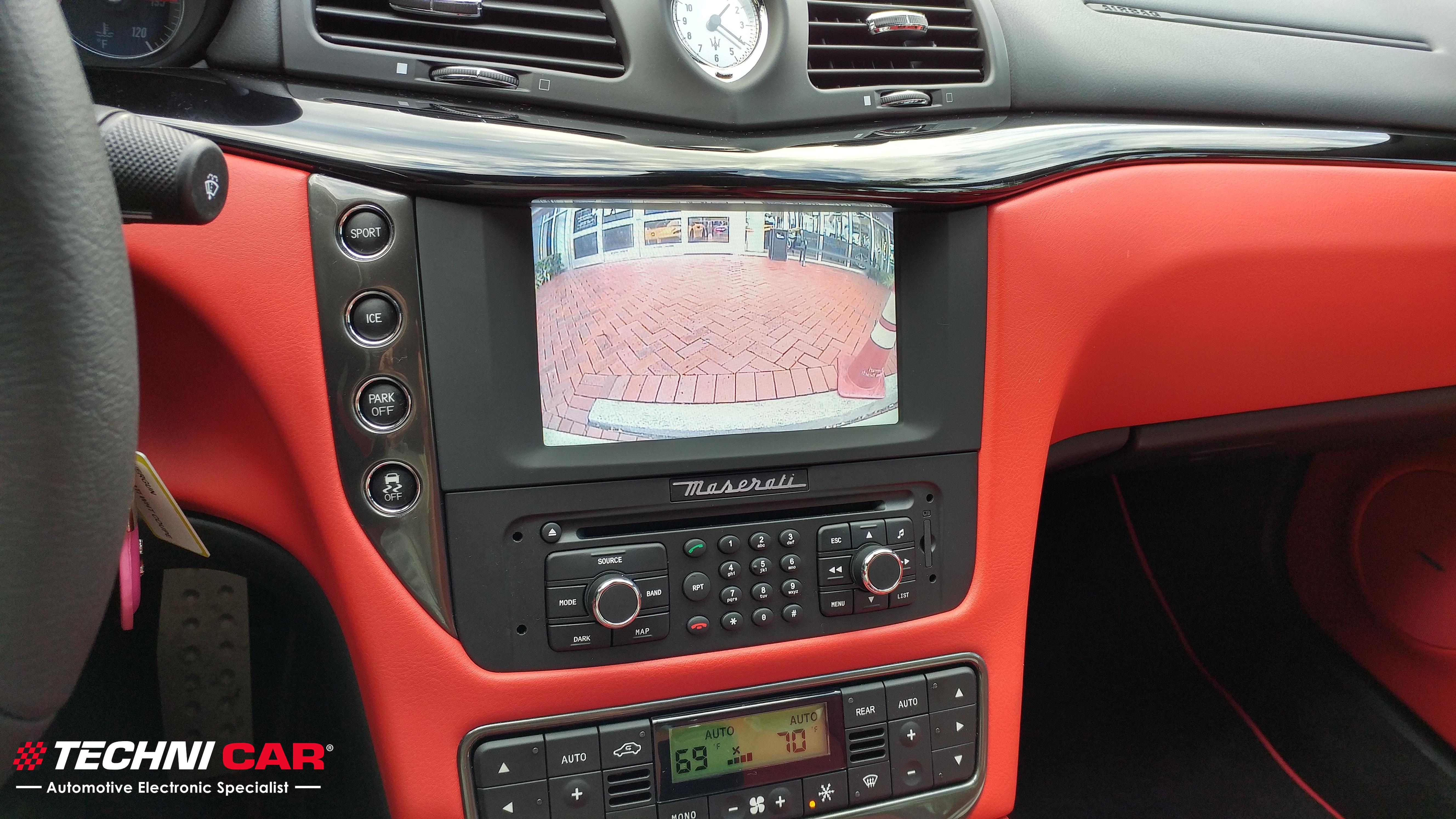 Maserati Granturismo rearview camera